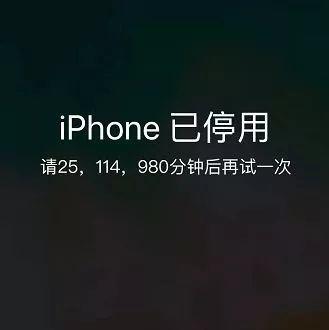 你的 iPhone 已停用:47年后解锁!